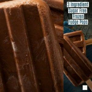 3 Ingredient Sugar Free Frozen Fudge Pops