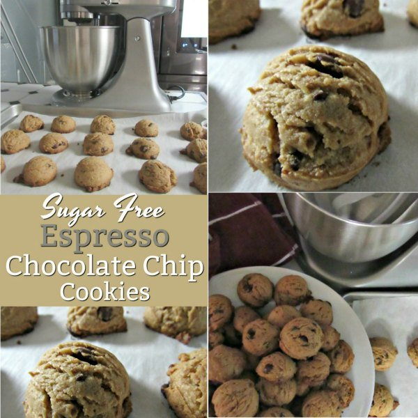 Sugar Free Espresso Chocolate Chip Cookies
