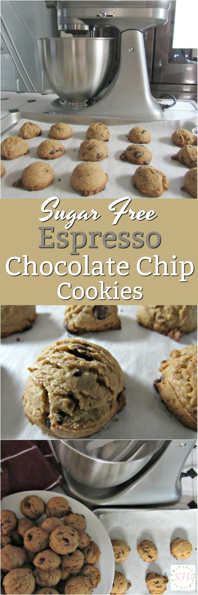 Sugar Free Espresso Chocolate Chip Cookies @BestBuy @KitchenAidUSA #ad