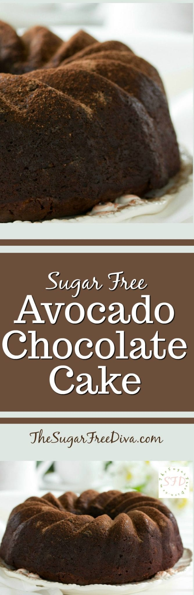 Sugar Free Avocado Chocolate Cake