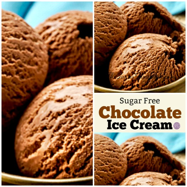 Homemade Sugar Free Chocolate Ice Cream
