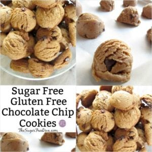 Sugar Free and Gluten free Chocolate Chip Cookies
