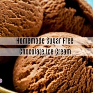 Homemade Sugar Free Ice Cream