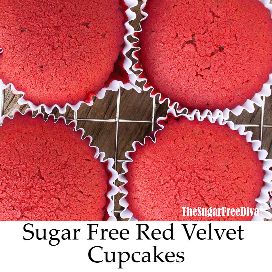 Sugar Free Red Velvet Cupcake Recipe