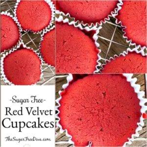 Sugar Free Red Velvet Cupcakes