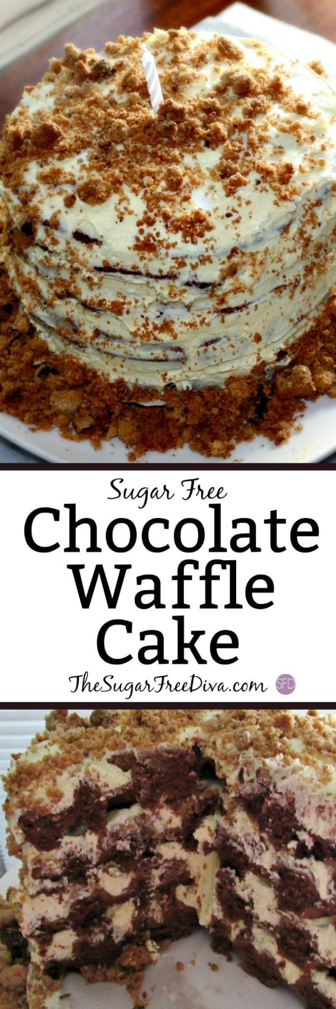 Sugar Free Chocolate Waffle Cake