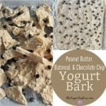 Peanut Butter, Oatmeal, and Chocolate Chip Yogurt Bark