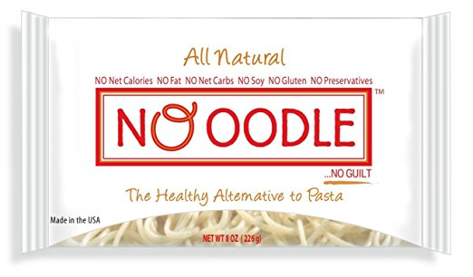 NOoodle Gluten-Free Pasta , 0 Carb, Fat-Free, Shirataki Angel Hair Noodles