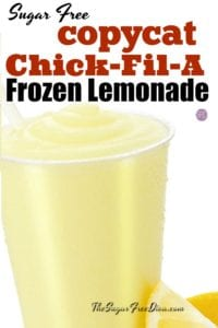 Sugar Free Copycat Chick-fil-A Frozen Lemonade