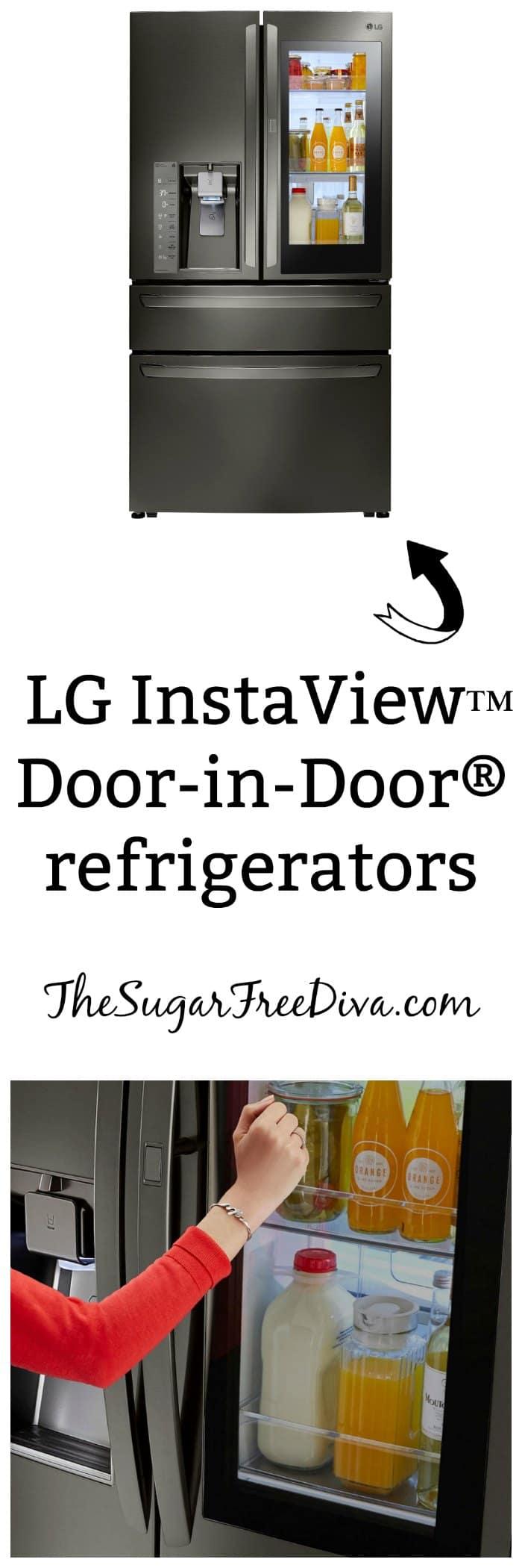 LG's InstaView™ Door-in-Door® refrigerators