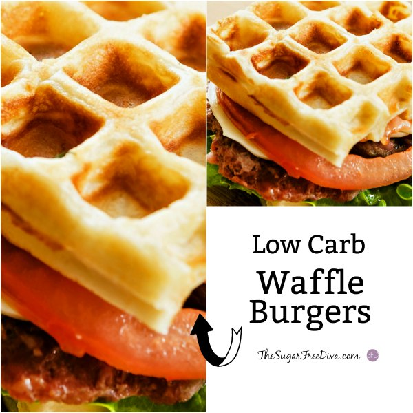 Low Carb Waffle Burgers