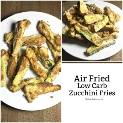 Air Fried and Low Carb Zucchini Fries