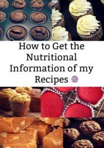How to Get the Nutritional Information of my Recipes