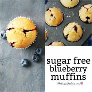 Sugar Free Blueberry Muffins