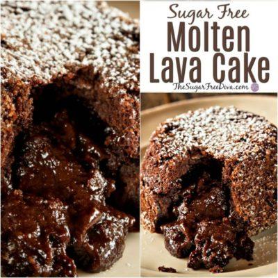 Sugar Free Molten Lava Cake