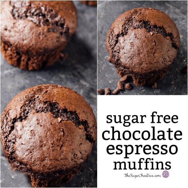 Sugar Free Chocolate Espresso Muffins