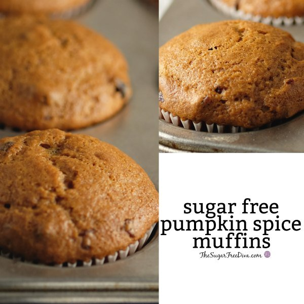 Sugar Free Pumpkin Spice Muffins
