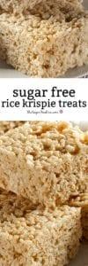 Sugar Free Rice Krispie Treats