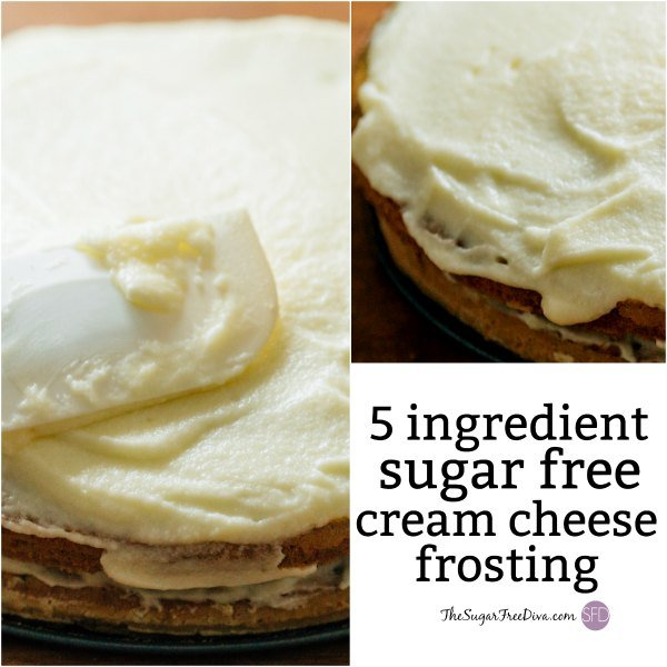 5 Ingredient Sugar Free Cream Cheese Frosting