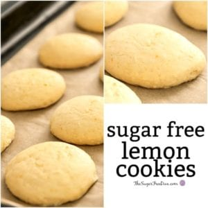EASY Sugar Free Lemon Cookies