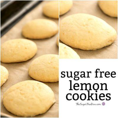 EASY Sugar Free Lemon Cookies