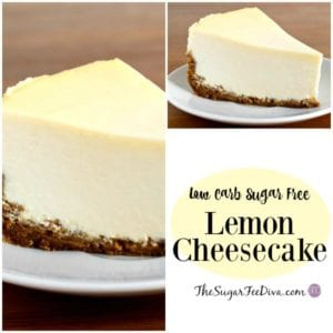 Low Carb Sugar Free Lemon Cheesecake