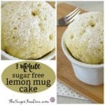 3 minute lemon mug cake