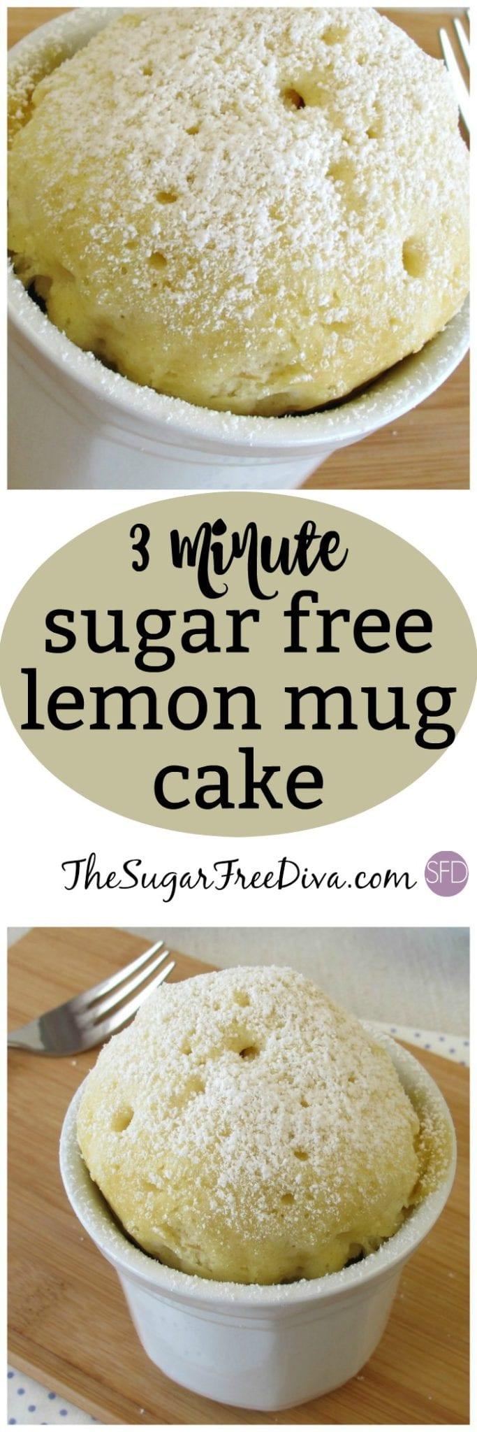 Sugar Free 3 Minute Lemon Mug Cake