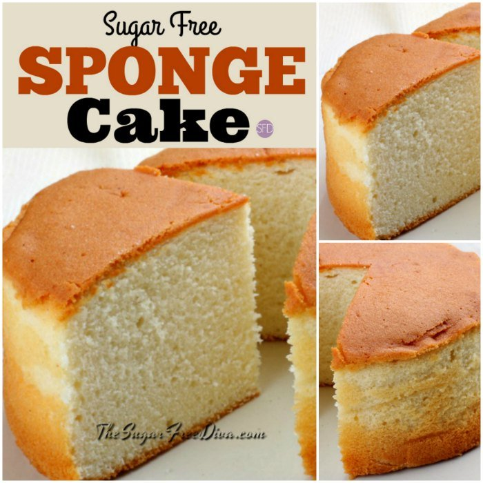 How To Make Yummy And Easy Sugar Free Sponge Cake