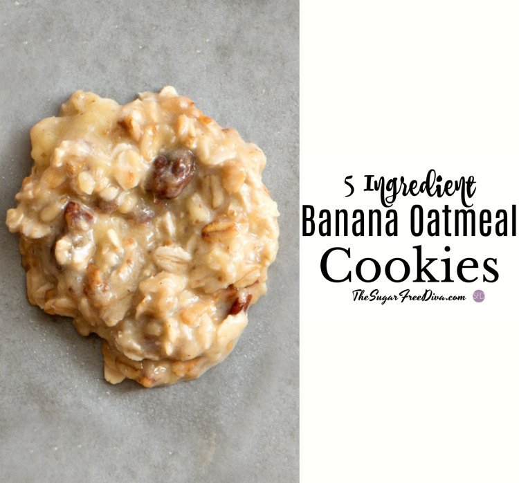 5 Ingredient Banana Oatmeal Cookies