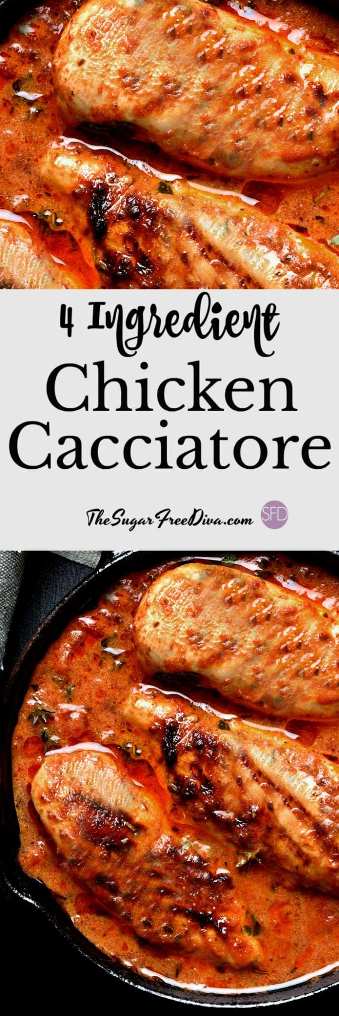 4 Ingredient Chicken Cacciatore