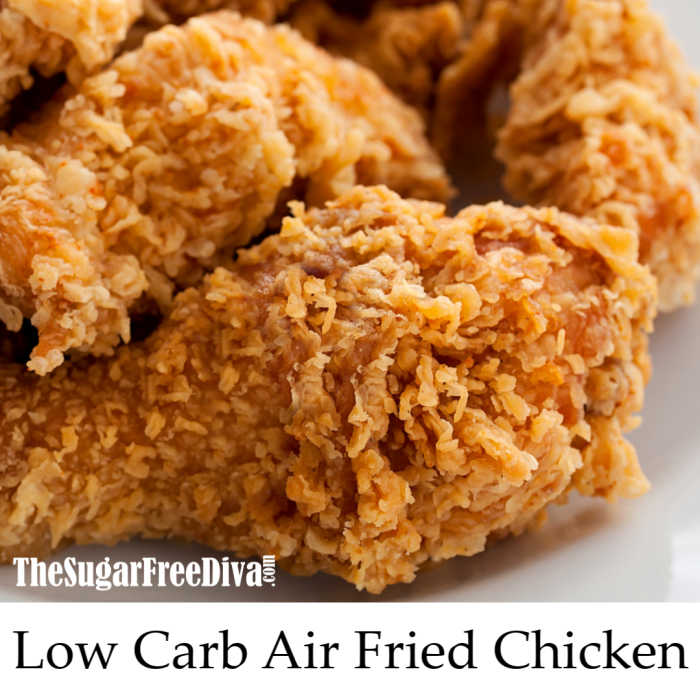 The Best Tasting Low Carb Air Fried Chicken Recipe