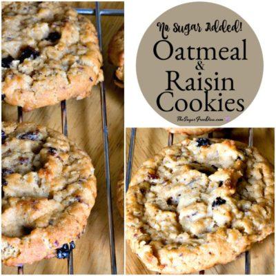 No sugar added oatmeal and raisin cookies