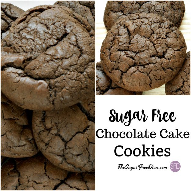 Sugar Free Chocolate Cake Cookies