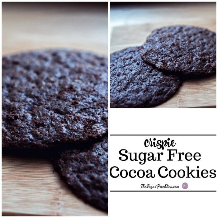 Sugar Free Crispie Cocoa Cookies