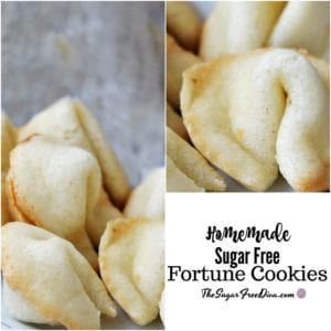 Homemade Sugar Free Fortune Cookies