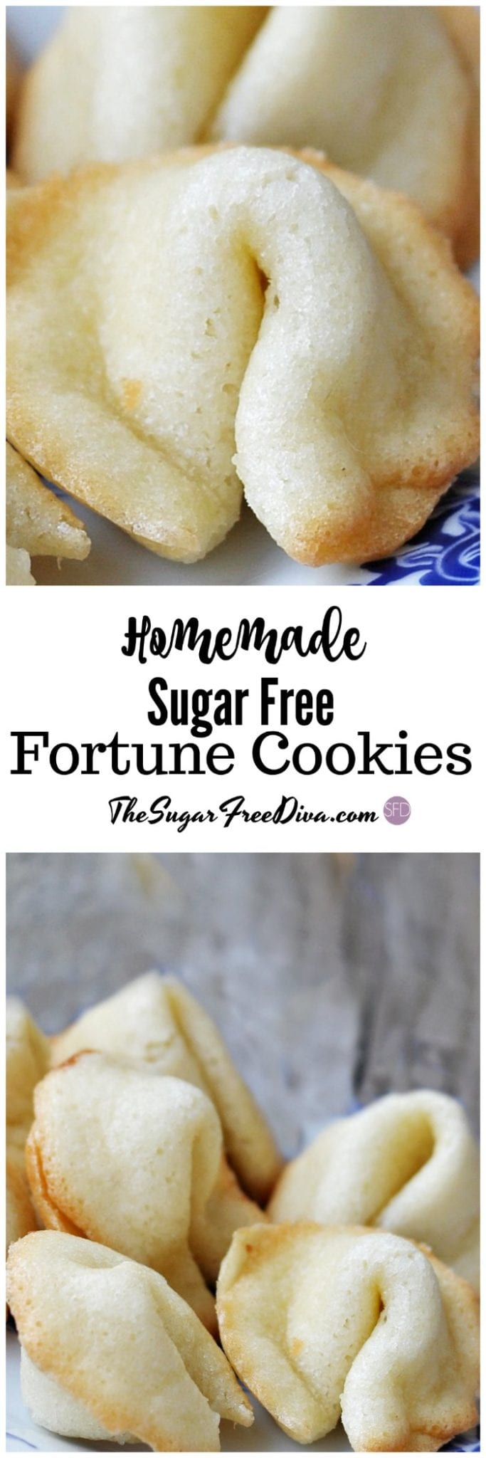 Homemade Sugar Free Fortune Cookies