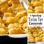 4 Ingredient Tater Tot Casserole