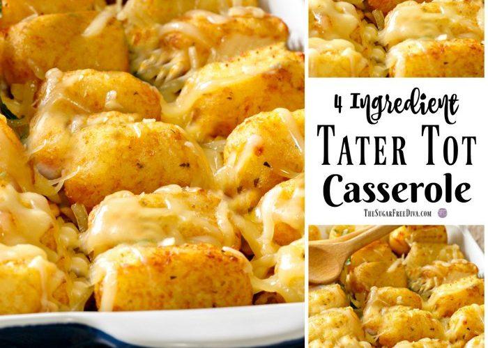4 Ingredient Tater Tot Casserole