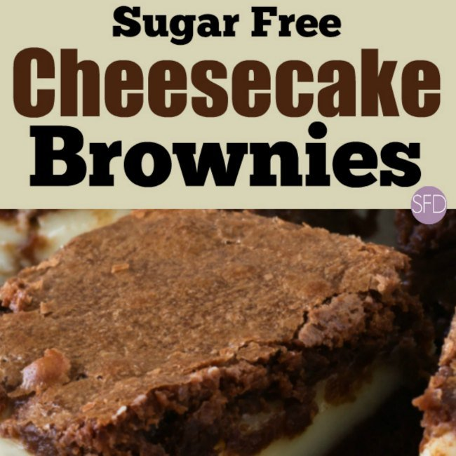 Sugar Free Cheesecake Brownies #sugarfree #brownies #recipe #dessert