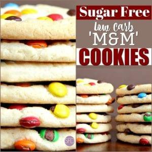 Sugar Free Low Carb 'M & M' Cookies
