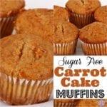Sugar Free Carrot Cake Muffins