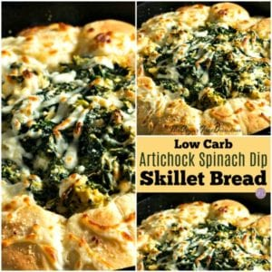 Low Carb Artichoke Dip Skillet Bread