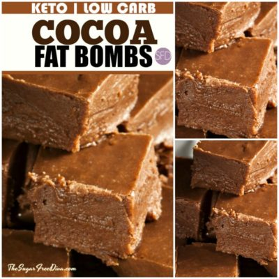 KETO LOW CARB COCOA FAT BOMBS