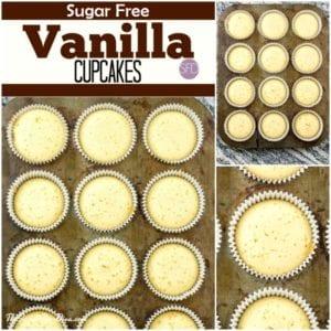 Sugar Free Vanilla Cupcakes