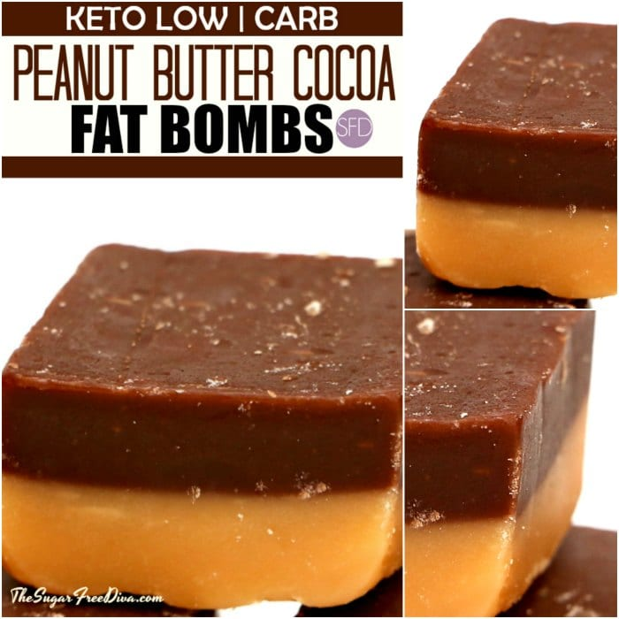 KETO LOW CARB Peanut Butter Cocoa FAT BOMBS