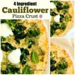 4 Ingredient Cauliflower Pizza Crust
