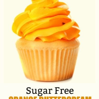 Sugar Free Orange Buttercream Frosting