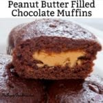 Sugar Free Peanut Butter Filled Chocolate Muffins