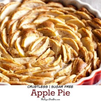 Sugar Free Crustless Apple Pie